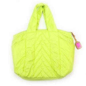 UGG Puffer Neon Green Nylon Purse RARE!